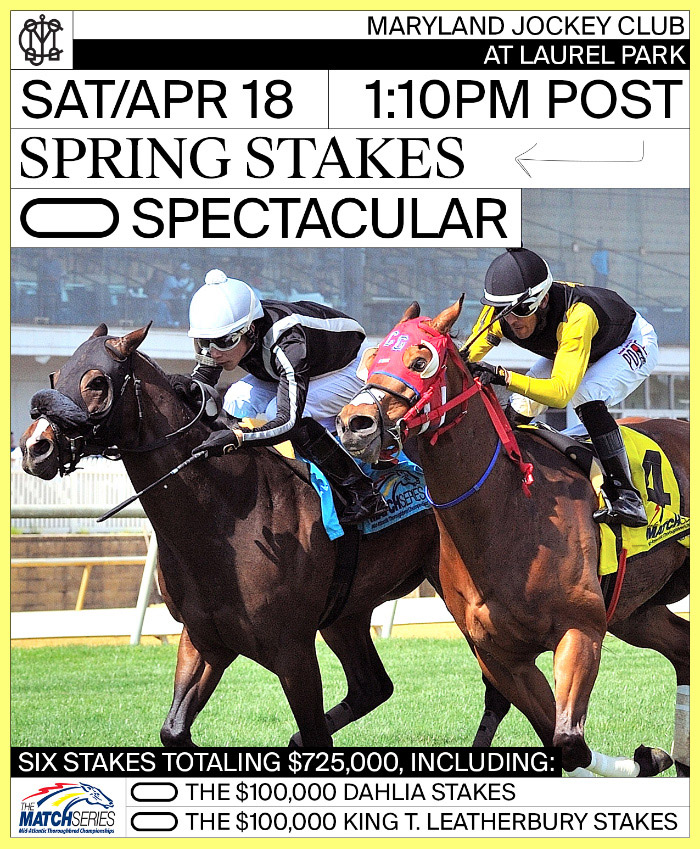 Spring Stakes Spectacular flyer - April 18